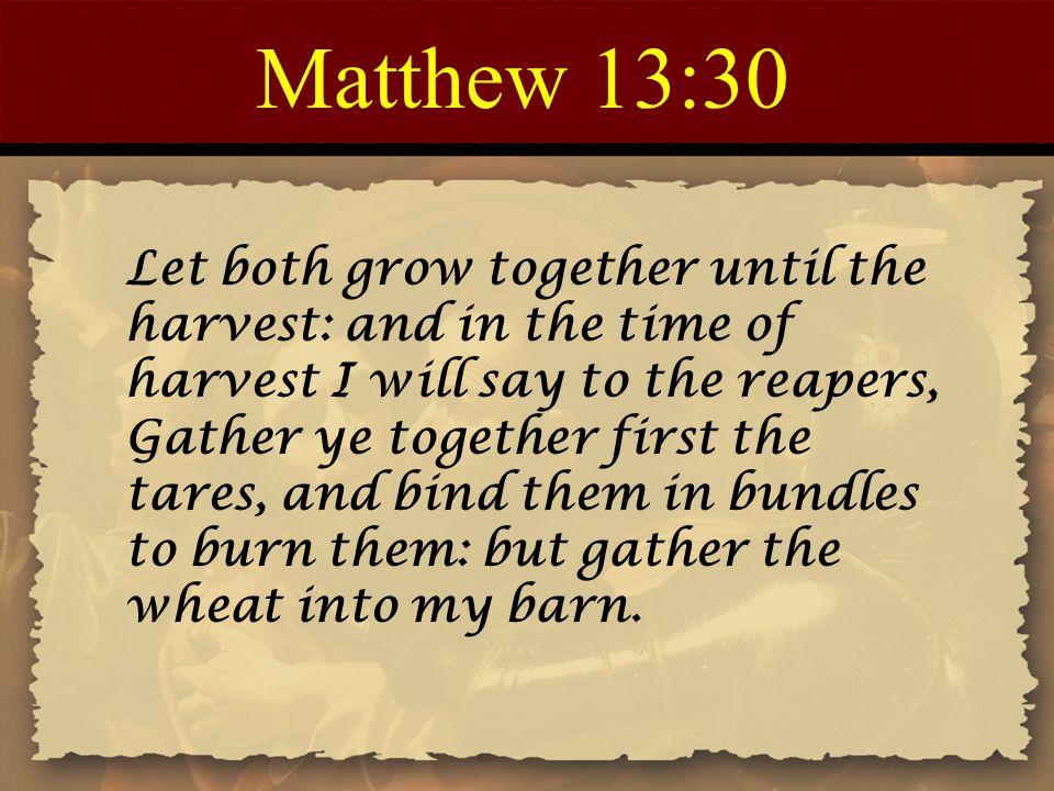 Matthew 13:30