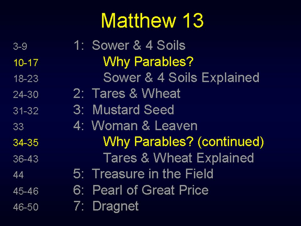The parables are given in public, the explanations are given in privet.