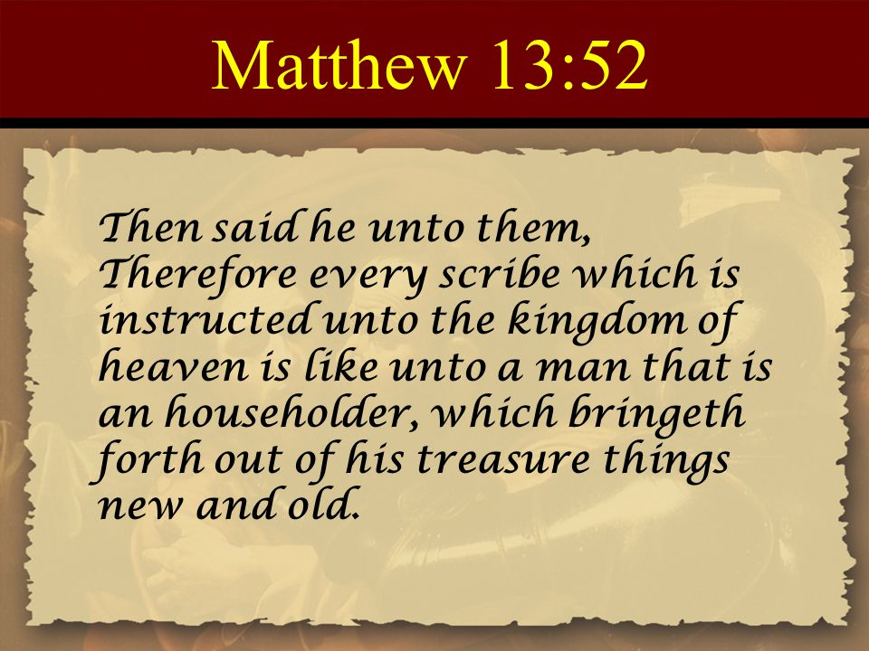Matthew 13:52