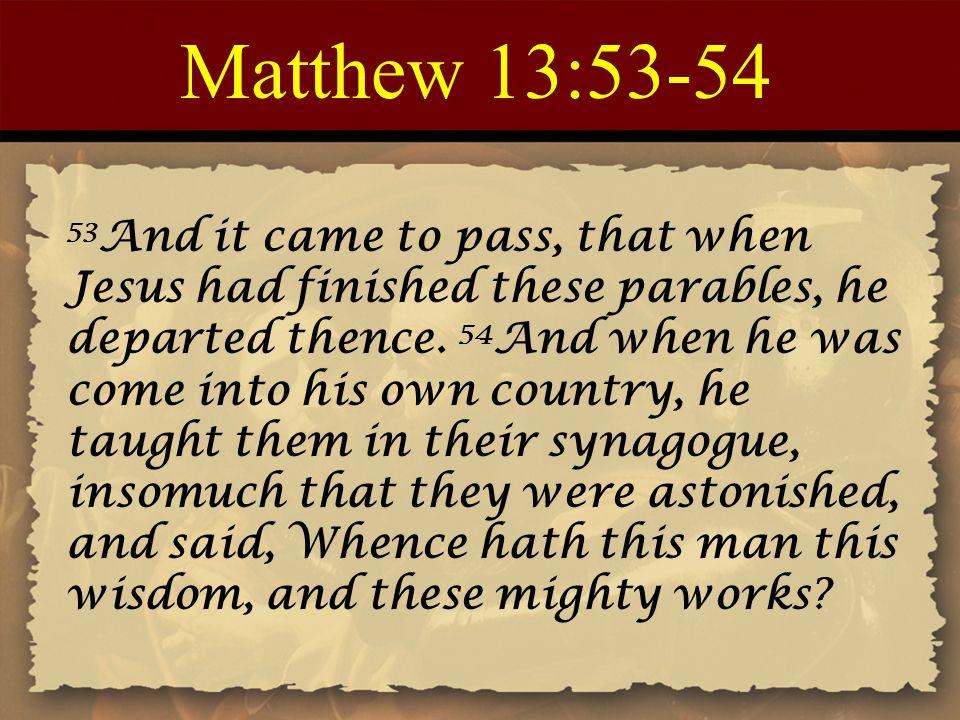Matthew 13:53-54
