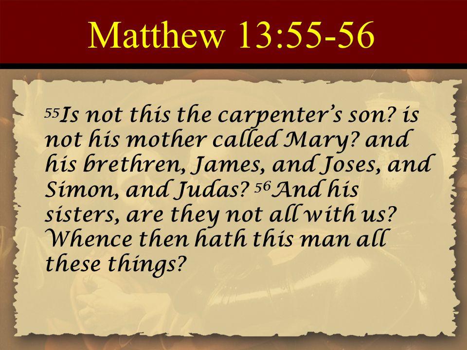 Matthew 13:55-56