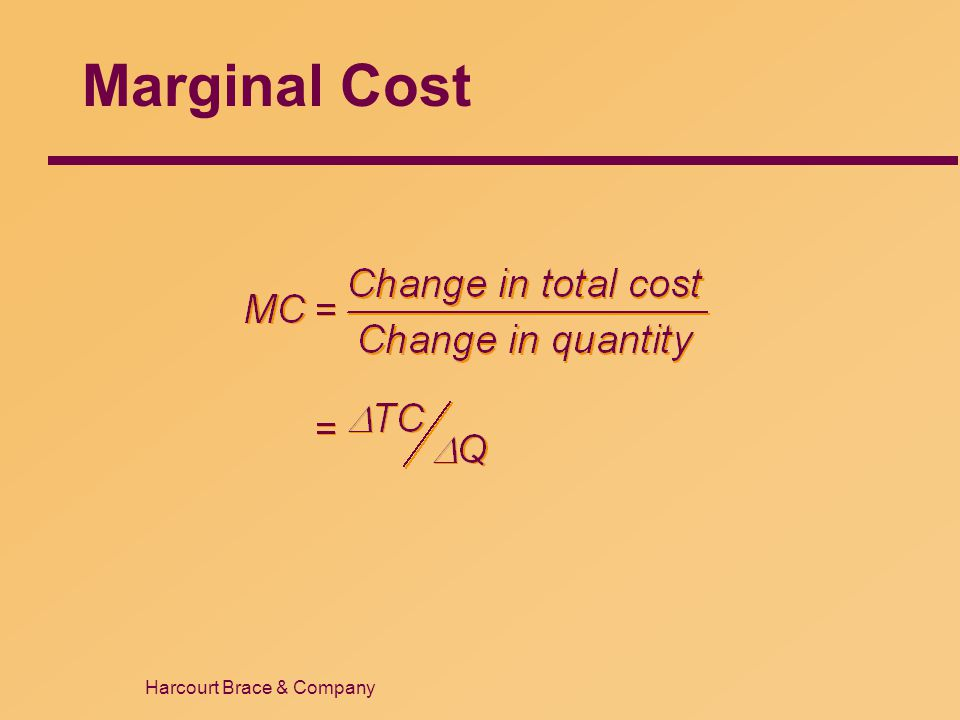 Marginal Cost 16 38