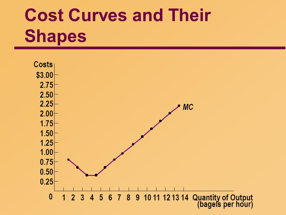 Cost Curves and Their Shapes