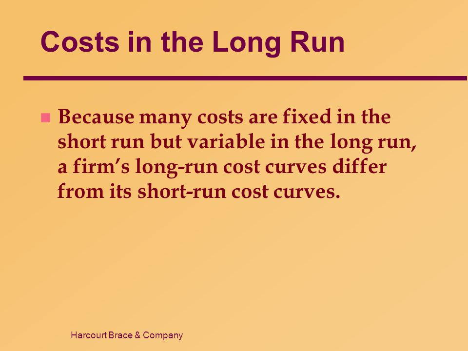 Costs in the Long Run