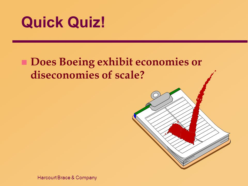 Quick Quiz! Does Boeing exhibit economies or diseconomies of scale 18