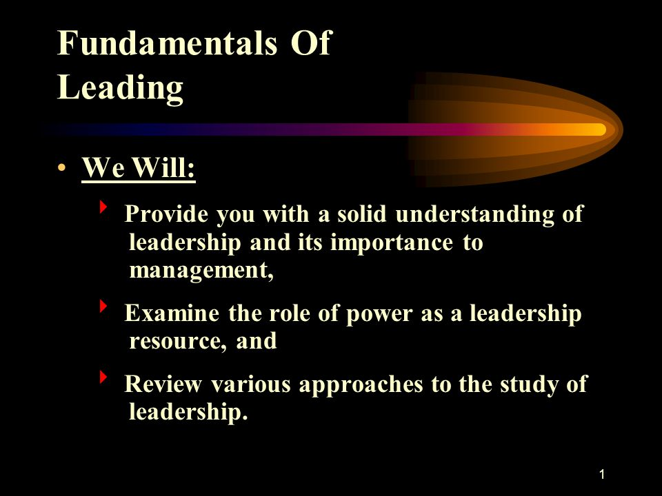 Fundamentals Of Leading