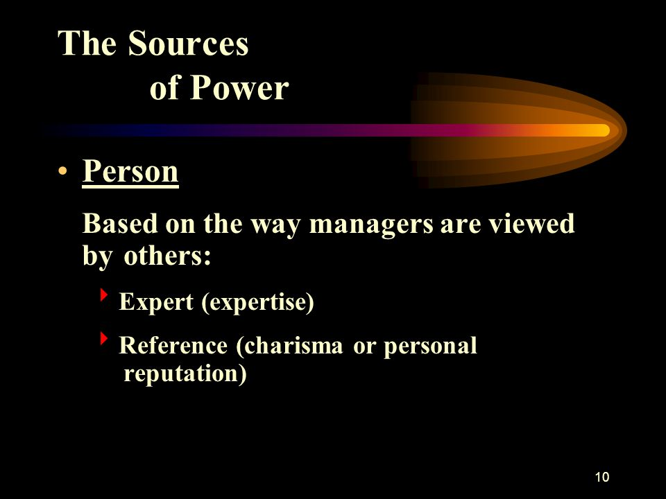 The Sources of Power Person