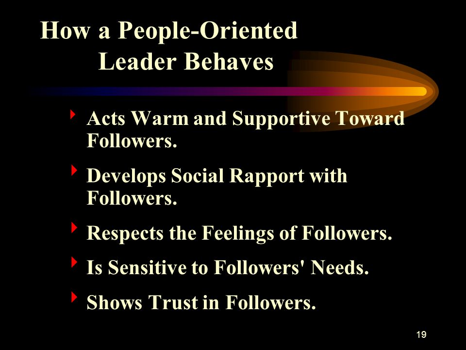 How a People-Oriented Leader Behaves