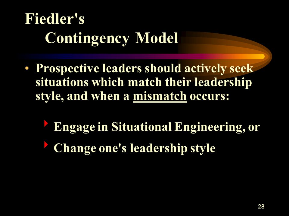 Fiedler s Contingency Model