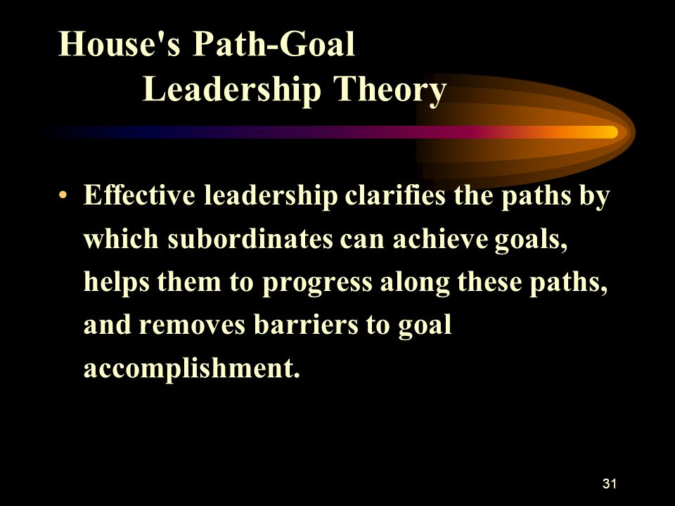 House s Path-Goal Leadership Theory