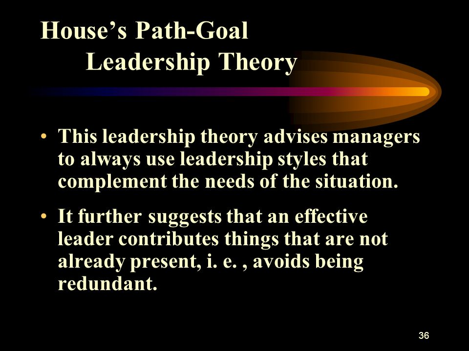 House's Path-Goal Leadership Theory