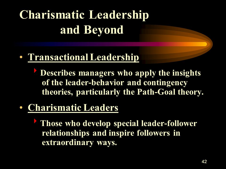 Charismatic Leadership and Beyond