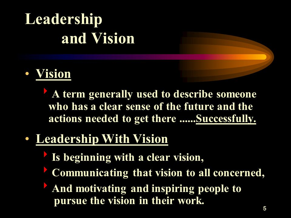 Leadership and Vision Vision Leadership With Vision