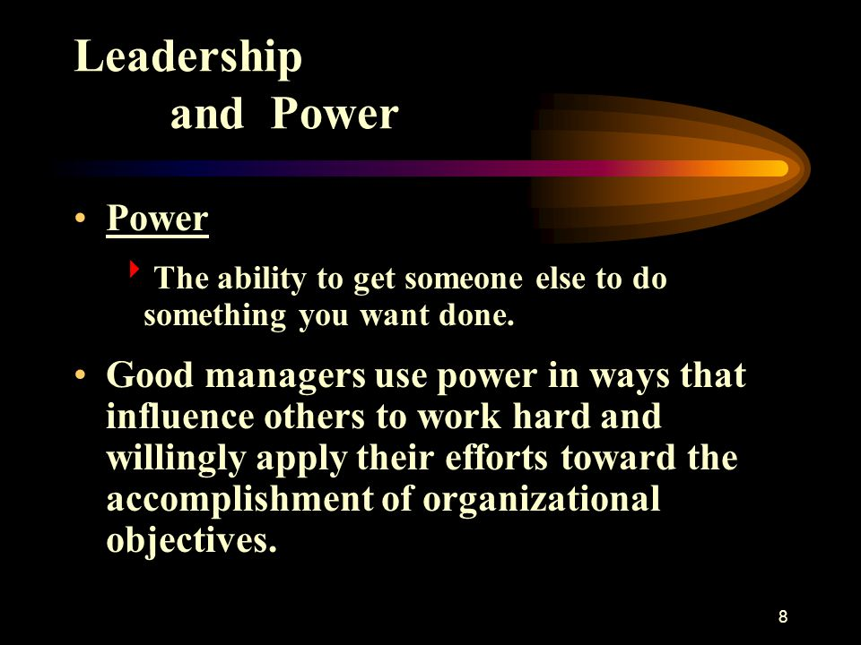 Leadership and Power Power