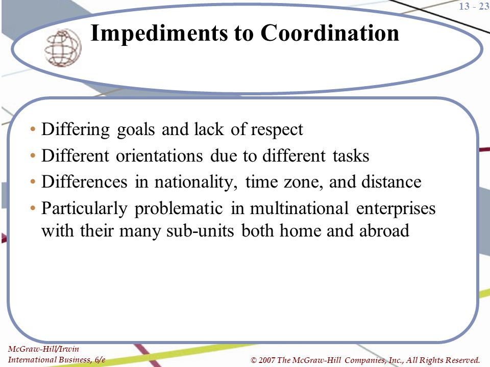 Impediments to Coordination