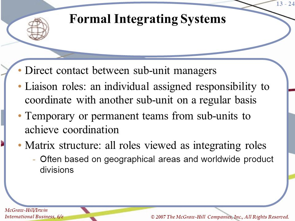 Formal Integrating Systems
