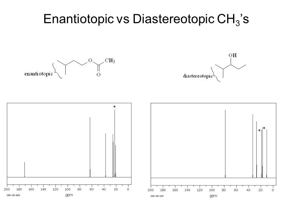 Enantiotopic vs Diastereotopic CH3's