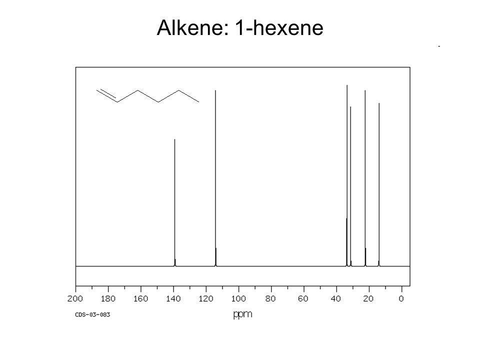 Alkene: 1-hexene