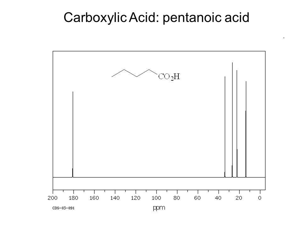Carboxylic Acid: pentanoic acid