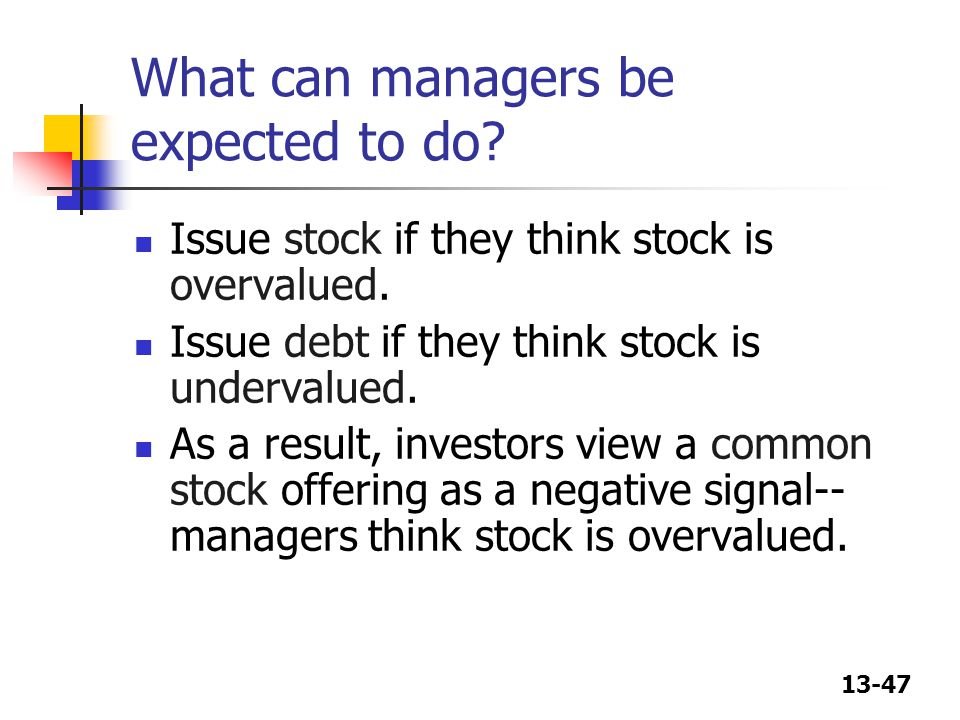 What can managers be expected to do