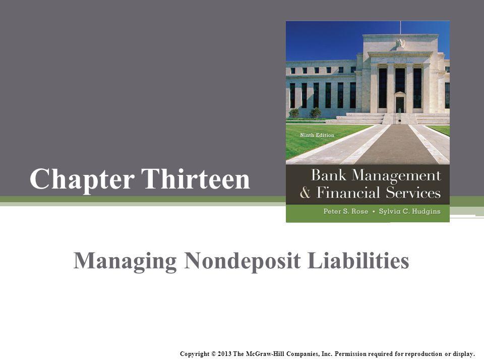 Managing Nondeposit Liabilities