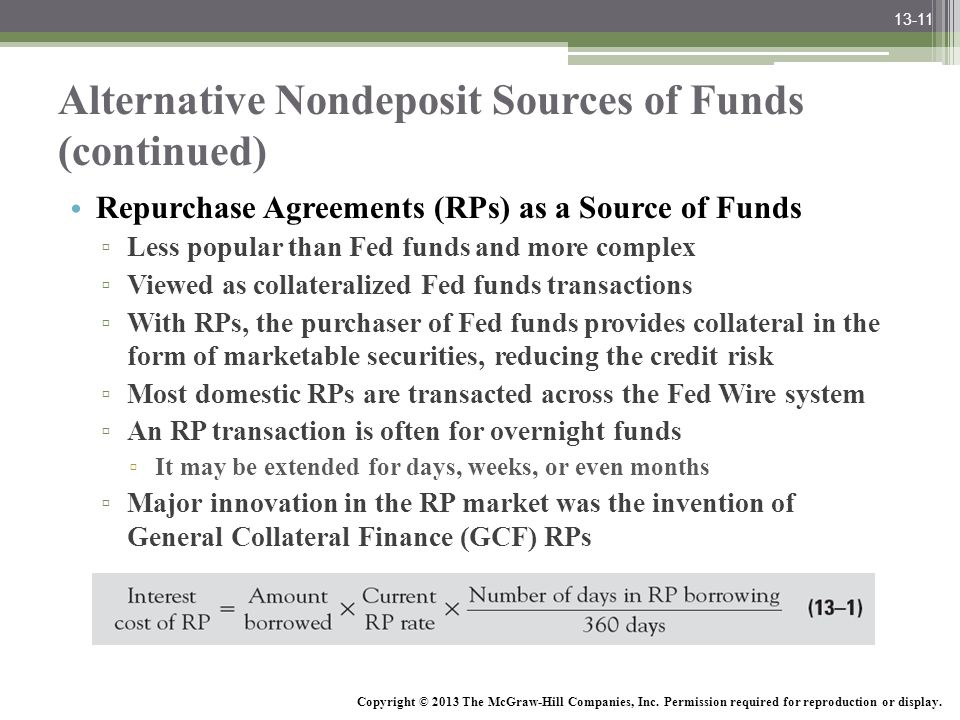 Alternative Nondeposit Sources of Funds (continued)