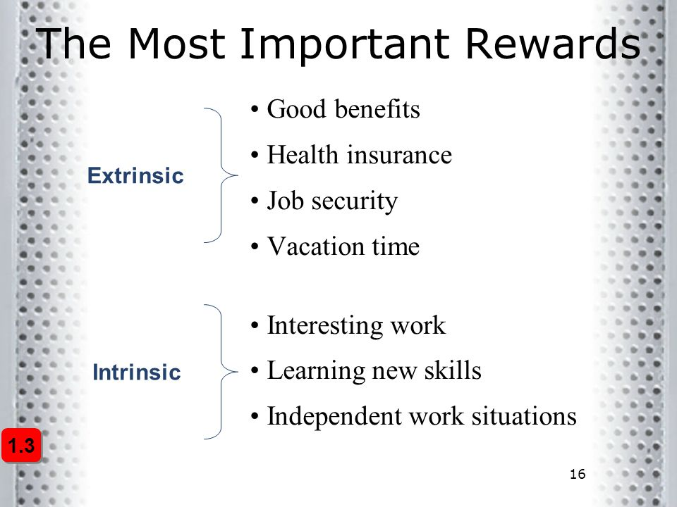 The Most Important Rewards