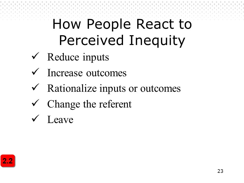 How People React to Perceived Inequity