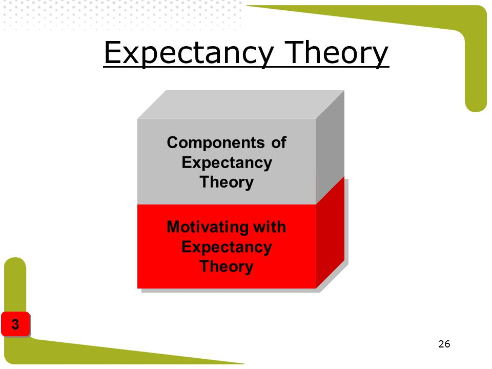Motivating with Expectancy Theory Components of Expectancy