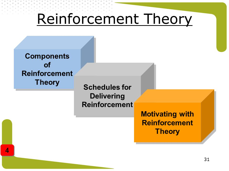 Reinforcement Theory Components of Reinforcement Theory Schedules for