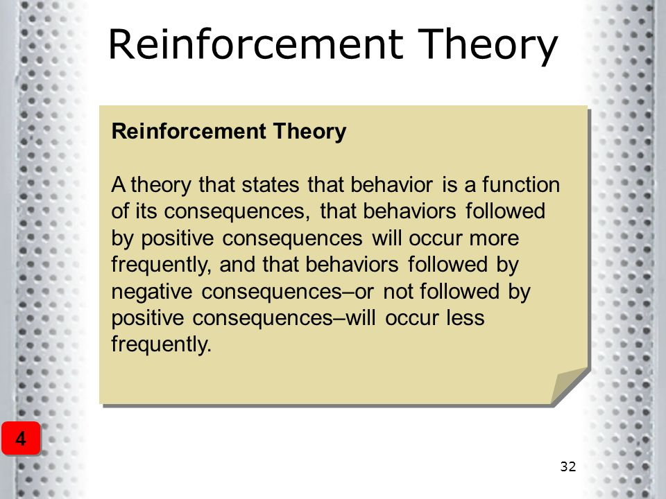 Reinforcement Theory Reinforcement Theory