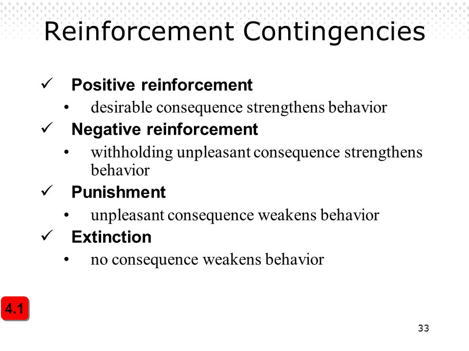 Reinforcement Contingencies