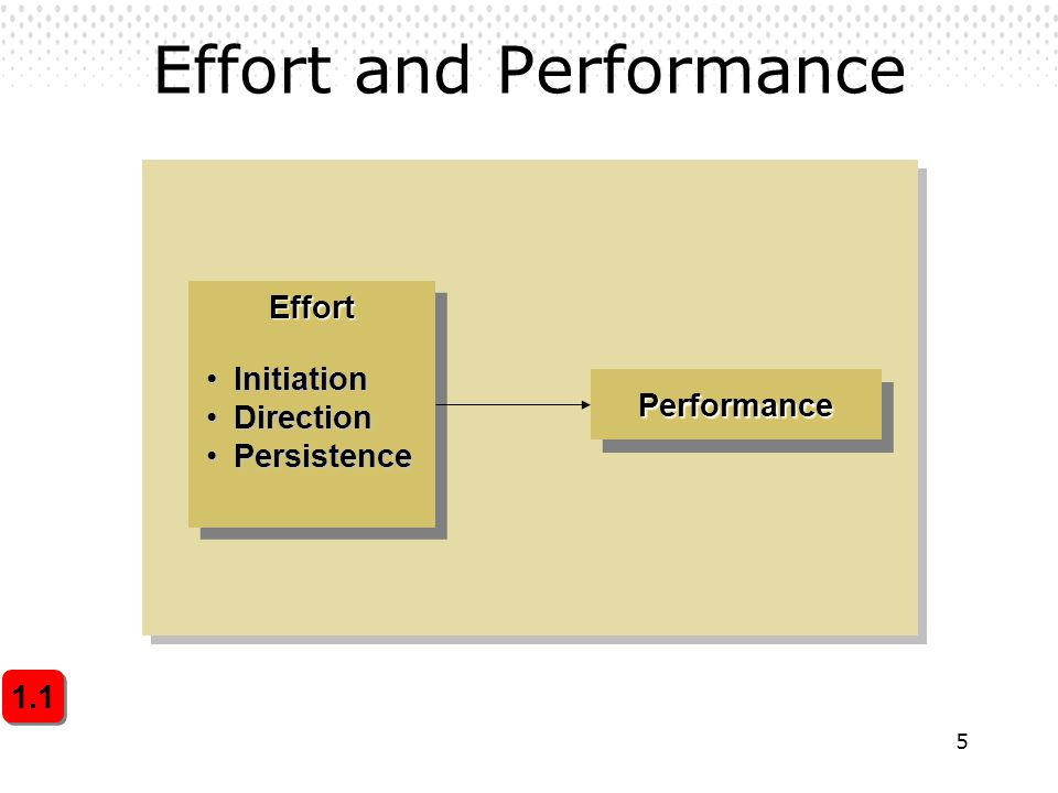 Effort and Performance