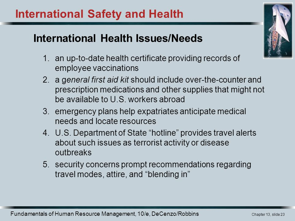 International Safety and Health