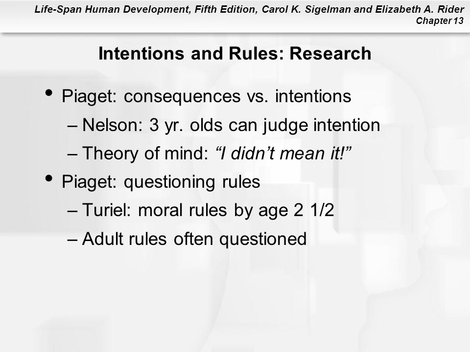 Intentions and Rules: Research