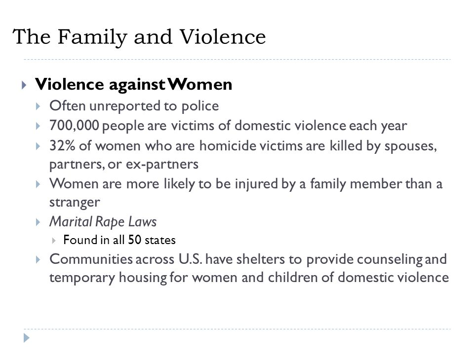The Family and Violence