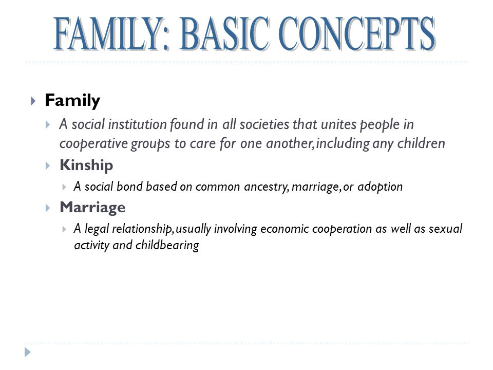 FAMILY: BASIC CONCEPTS