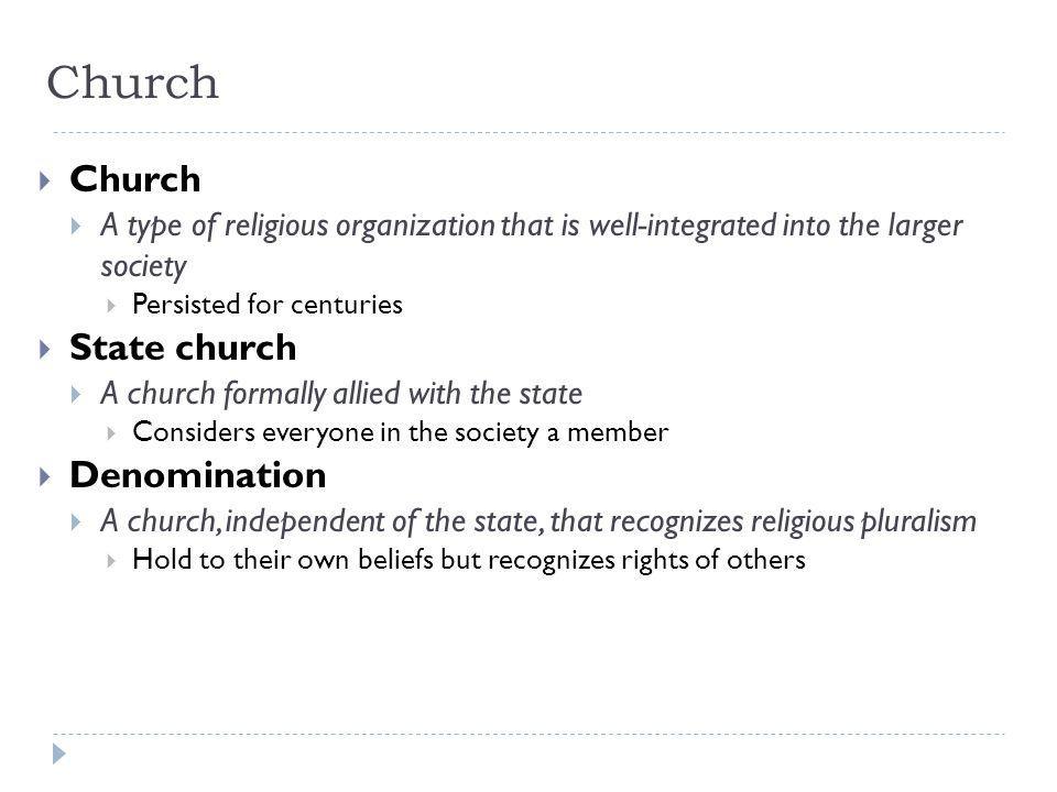 Church Church State church Denomination