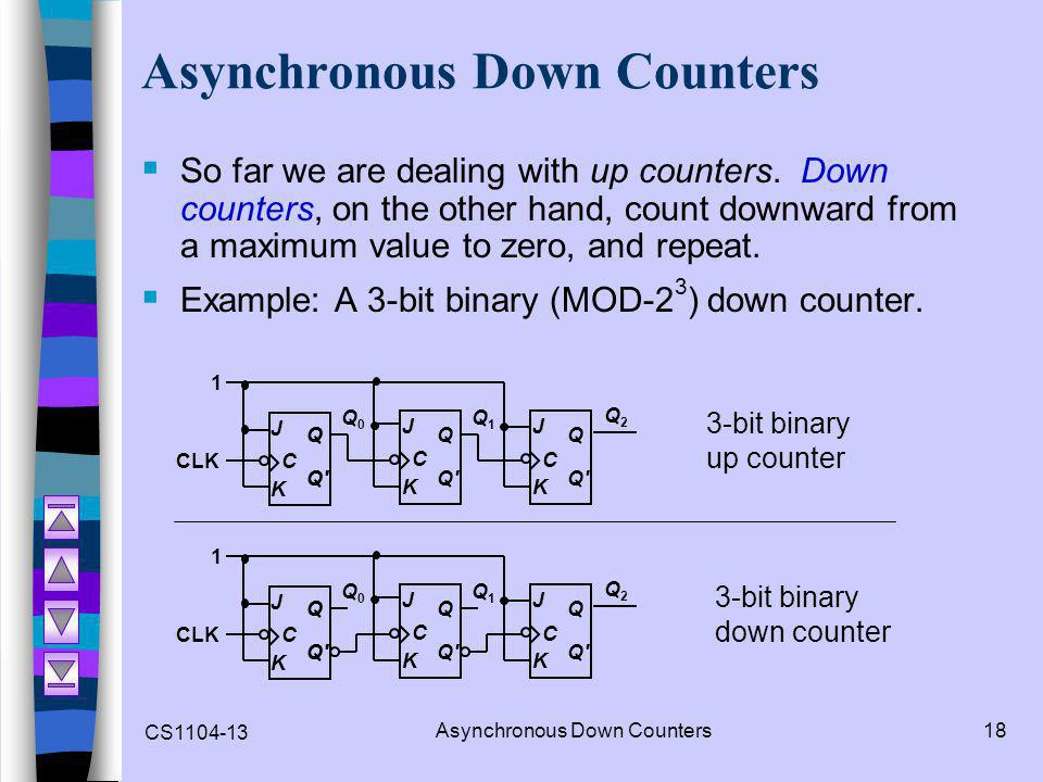 how to build an asynchronous counter