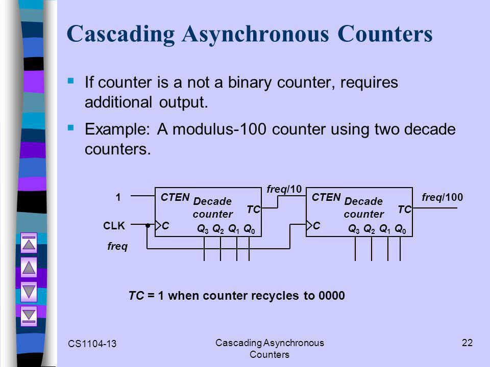 Cascading Asynchronous Counters