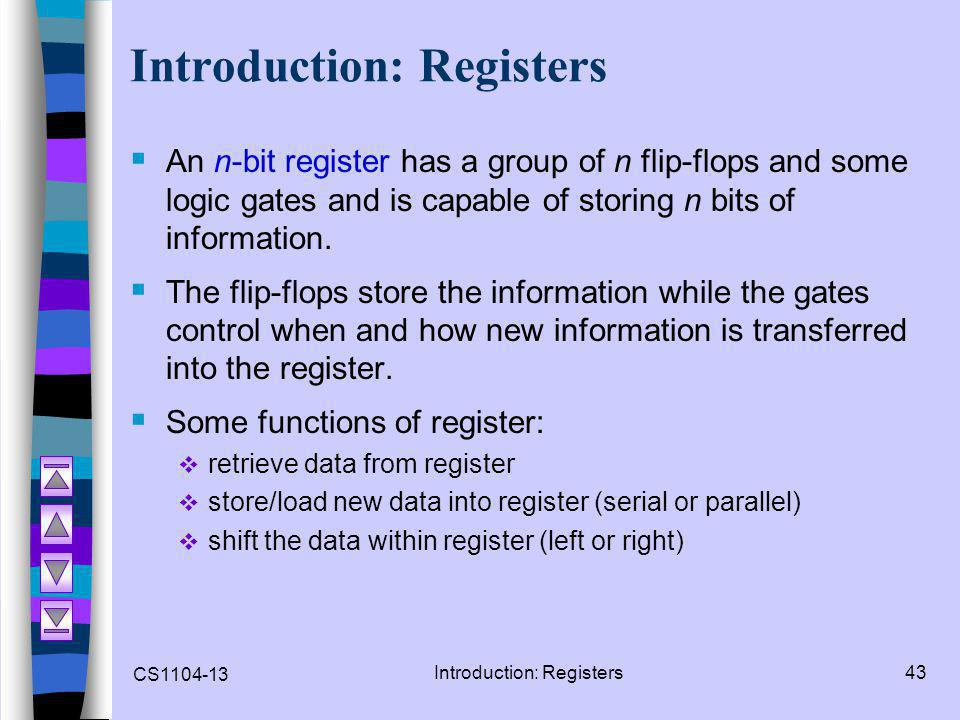 Introduction: Registers