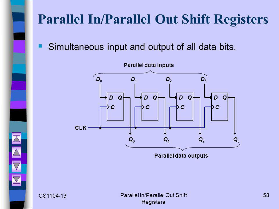 Parallel In/Parallel Out Shift Registers