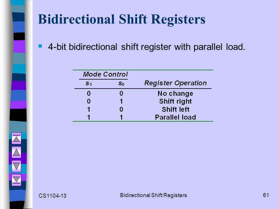 Bidirectional Shift Registers