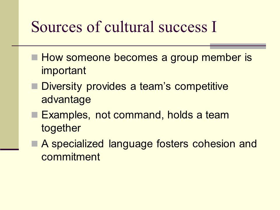 Sources of cultural success I