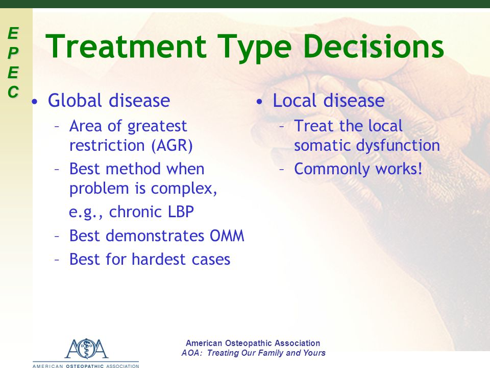 Treatment Type Decisions