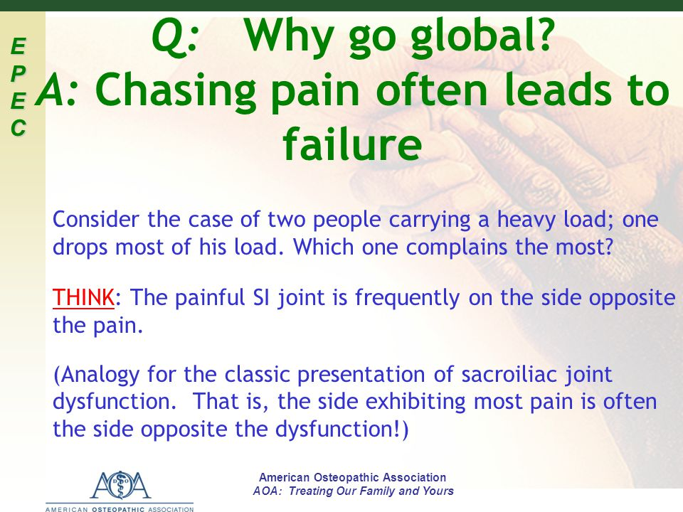 Q: Why go global A: Chasing pain often leads to failure