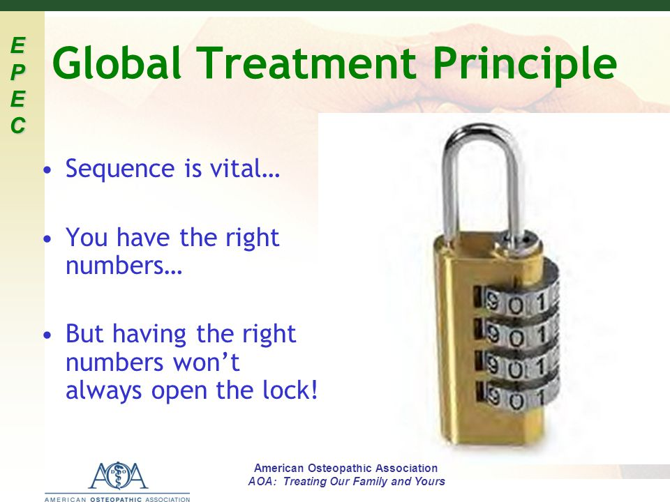 Global Treatment Principle