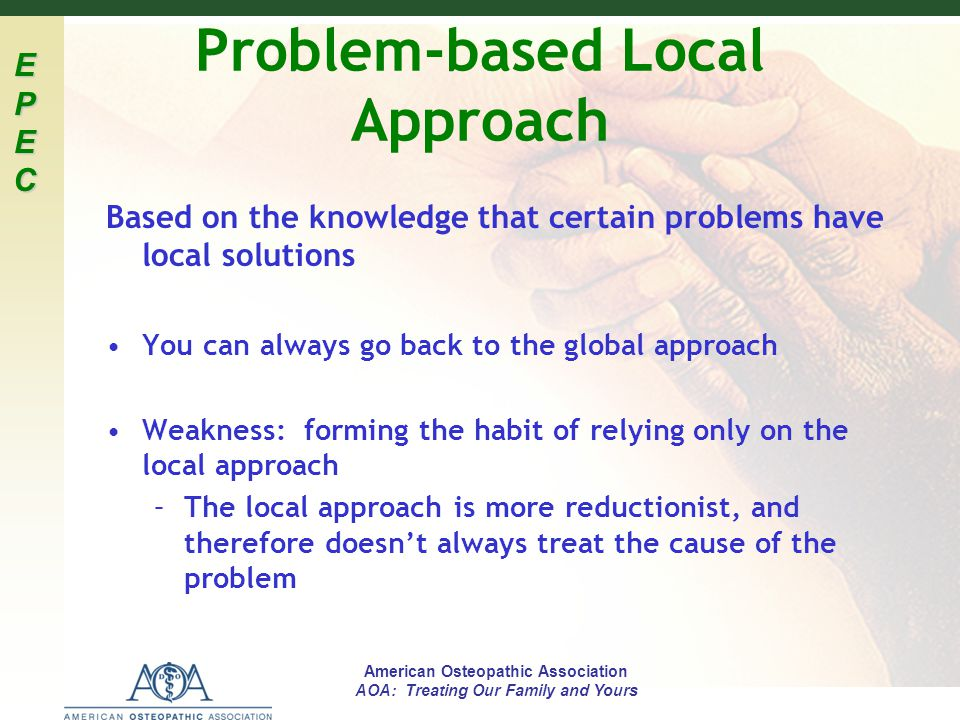Problem-based Local Approach
