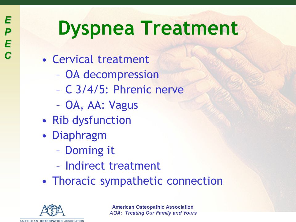 Dyspnea Treatment Cervical treatment OA decompression