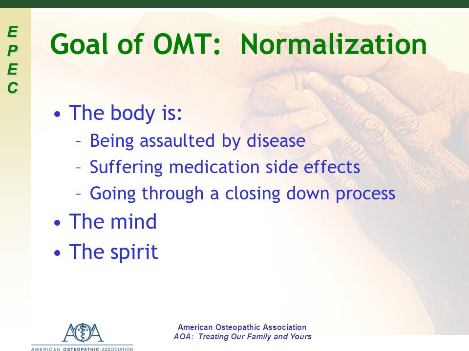 Goal of OMT: Normalization